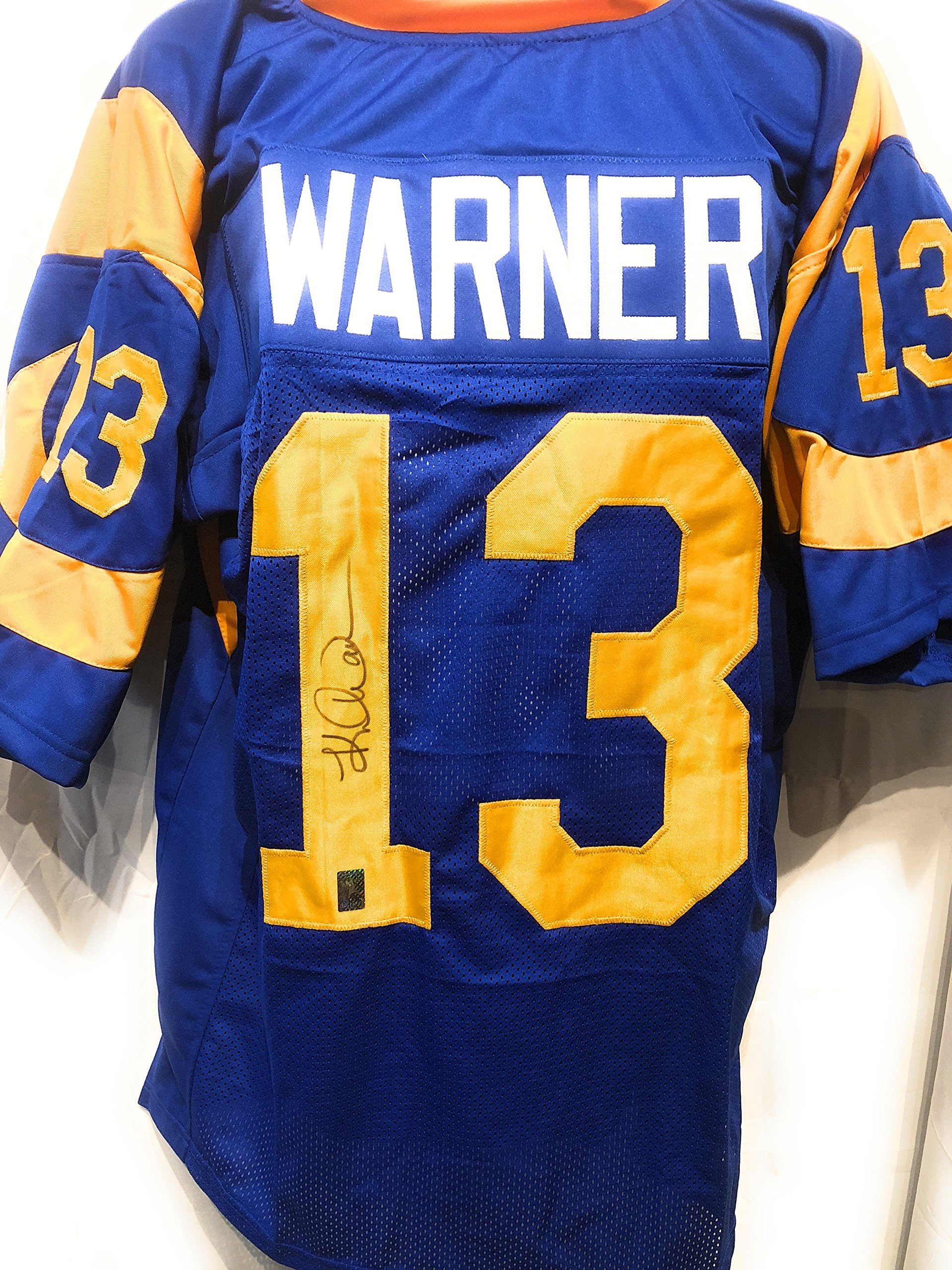 Kurt Warner St. Louis Rams Signed Autograph Custom Jersey Warner Athlete Hologram