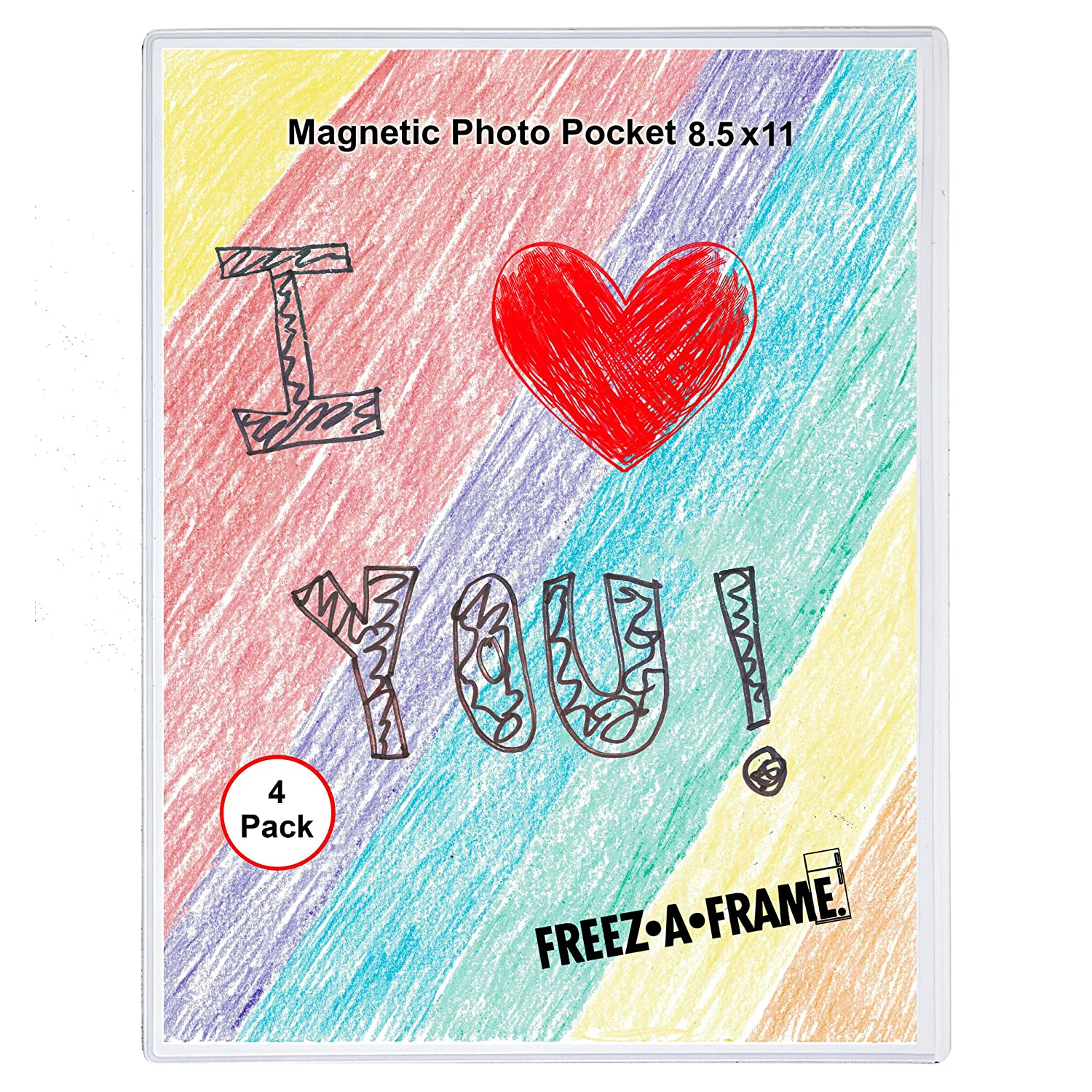 Amazoncom 4 Pack 85 X 11 Magnetic Picture Frame Use For 8 X 10