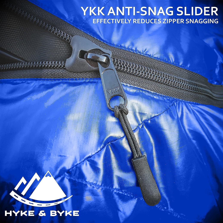 Options de Couleur 5 Hyke /& Byke Shavano 0C Sac de Couchage Momie Ultral/éger pour Sac /à Dos avec Sac de Compression et Cinq