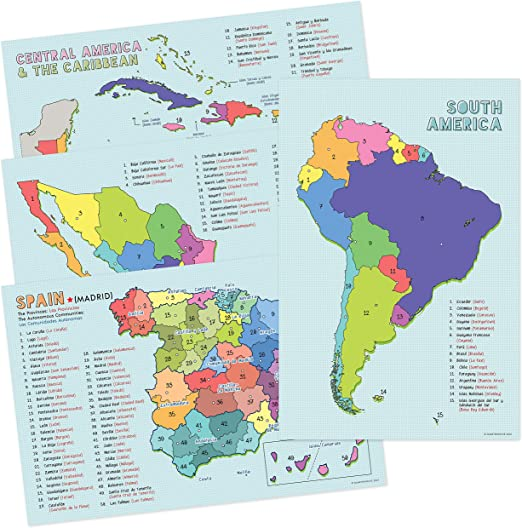 Spanish Language Country Maps for The Clroom - Spain, Mexico, Central on map of venezuela country, map of belize country, map of cajun country, map of guatemala country, map of greek country, map of asian country, map of europe country, map of made up country, map of honduras country, map of middle eastern country, map of european country, map of basque country, map of puerto rico country, map of chile country, map of hmong country, map of argentina country, map of african country, map of australian wine country, map of american country, map of mexico country,