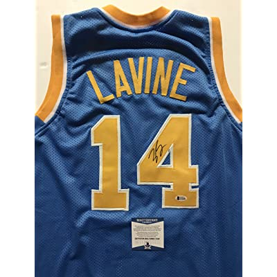 the best attitude 1b1f2 9e19d Autographed/Signed Zach LaVine UCLA Bruins Blue Basketball ...
