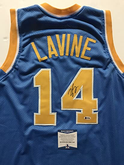 Image Unavailable. Image not available for. Color  Autographed Signed Zach  LaVine UCLA Bruins Blue Basketball Jersey Beckett BAS COA 74c75f324