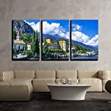 wall26 - 3 Piece Canvas Wall Art - Scenery of Lago Di Como, Cadenabbia. Italy - Modern Home Art Stretched and Framed…