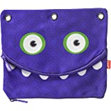 ZIPIT Googly 3-Ring Pencil Case, Indigo