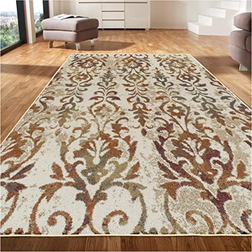 Superior 6mm Pile Height with Jute Backing, Durable, Fashionable and Easy Maintenance, Lafayette Collection Area Rug, 8 x 10 – Ivory