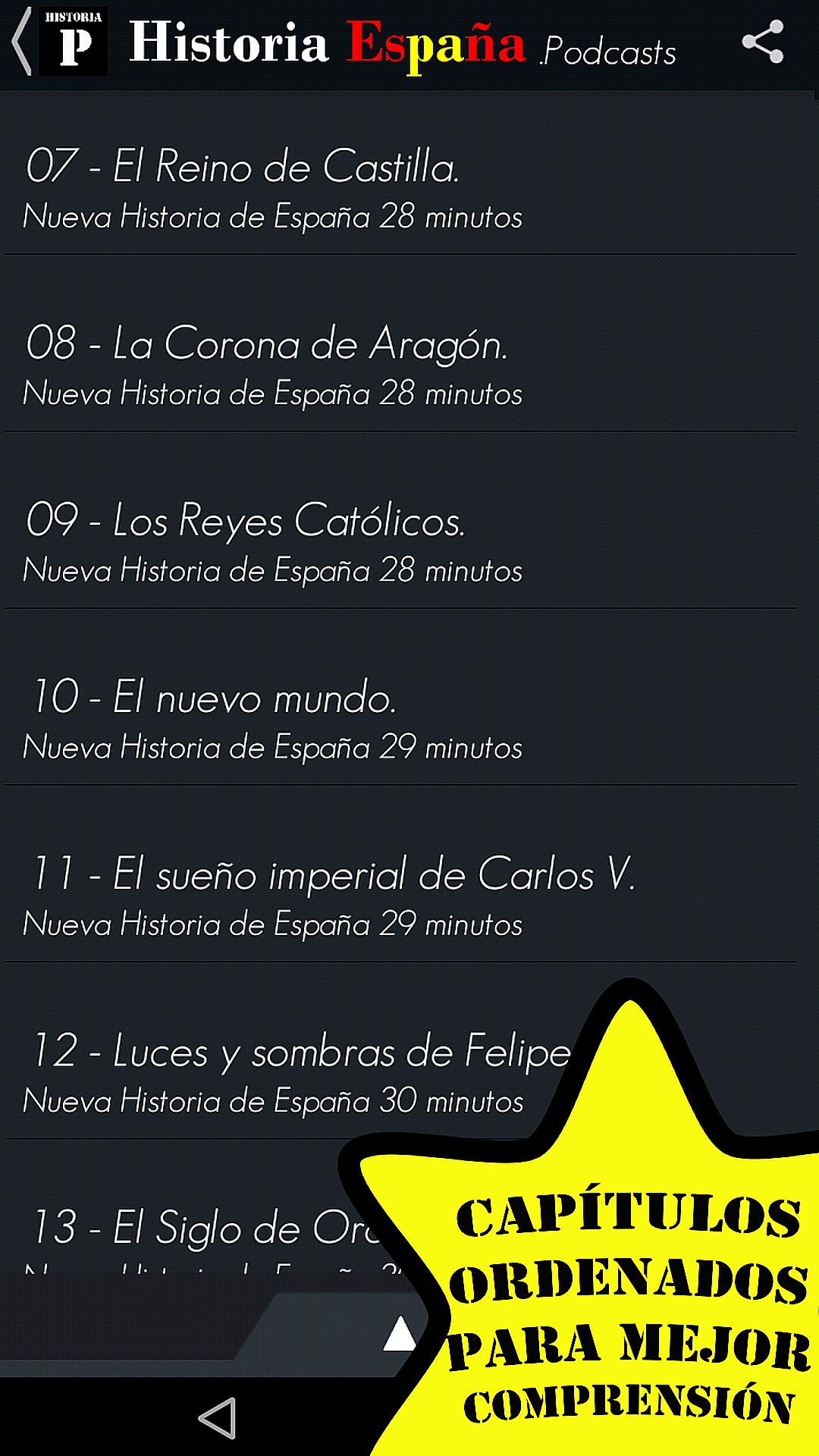 Historia España Podcasts - Sin Publicidad: Amazon.es: Appstore para Android