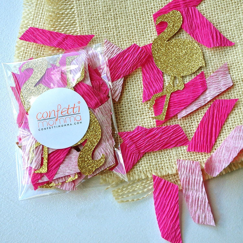 Amazon.com: Flamingo Party Crepe Paper Confetti. Flamingle Tropical ...