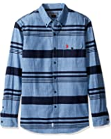 U.S. Polo Assn. Men's Stripe, Plaid Or Print Long Sleeve Single Pocket Sport Shirt
