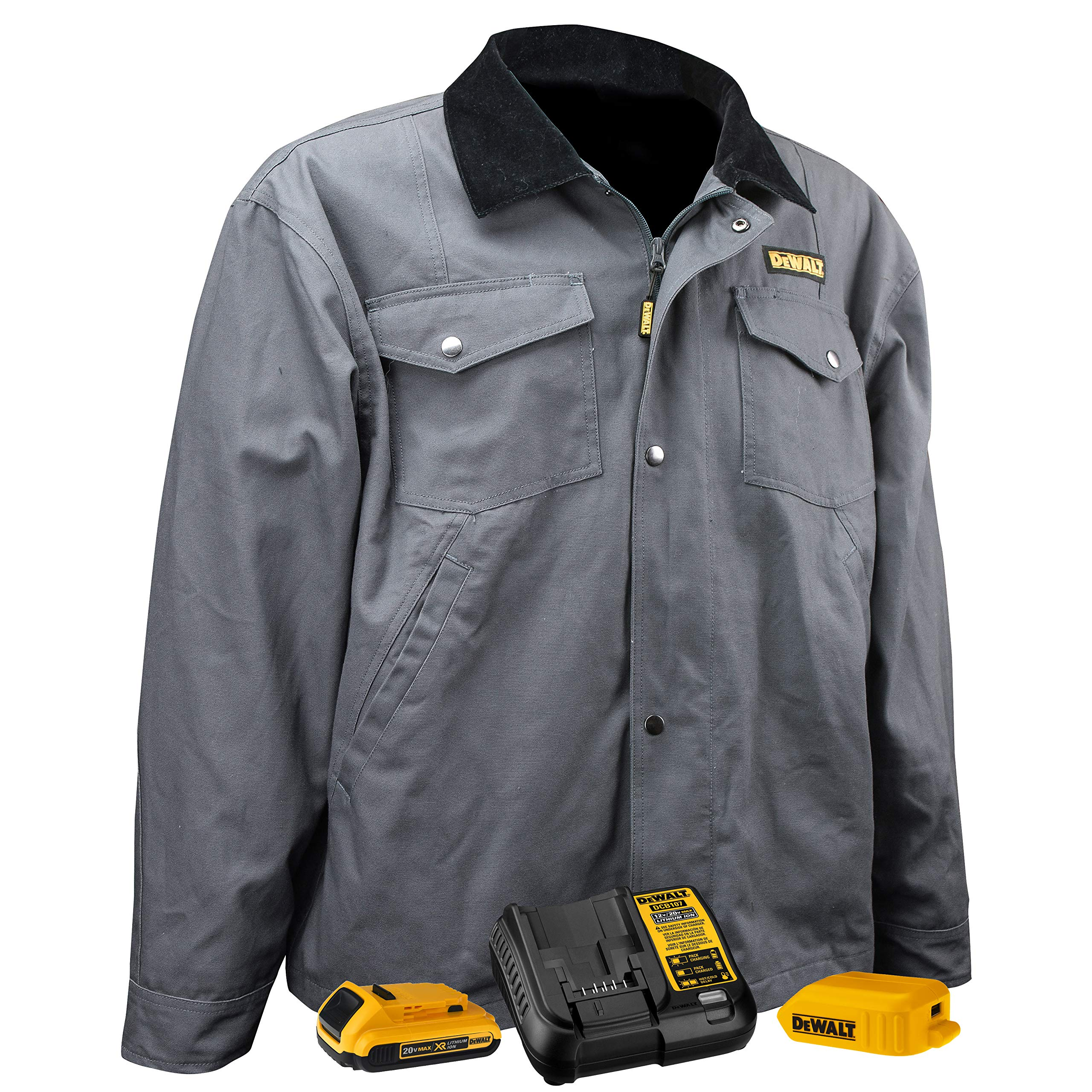 DEWALT DCHJ083 Heated Barn Coat Kit with 2.0Ah Battery and Charger, XL by DEWALT