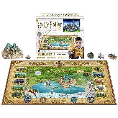 4D Cityscape Mini Harry Potter Hogwarts 3D Time Puzzle: Toys & Games