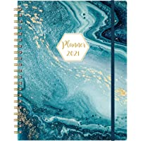 """2021 Planner - Weekly & Monthly Planner with Tabs, Jan 2021 - Dec 2021, 11.2"""" x 9.3"""", Flexible Hardcover, Strong Binding…"""