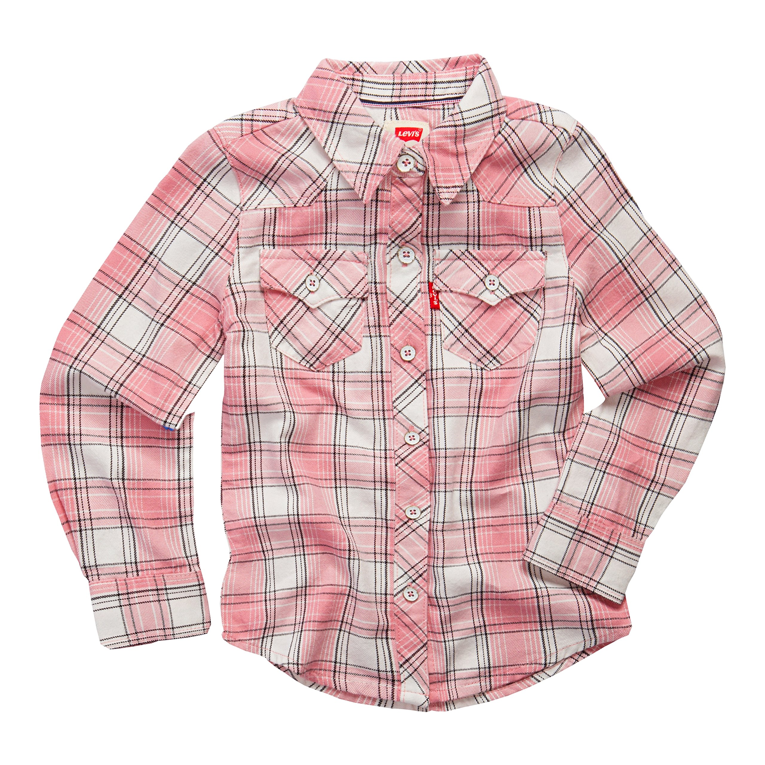 Levi's girls Western Button Up Shirt. Candy Pink 3T