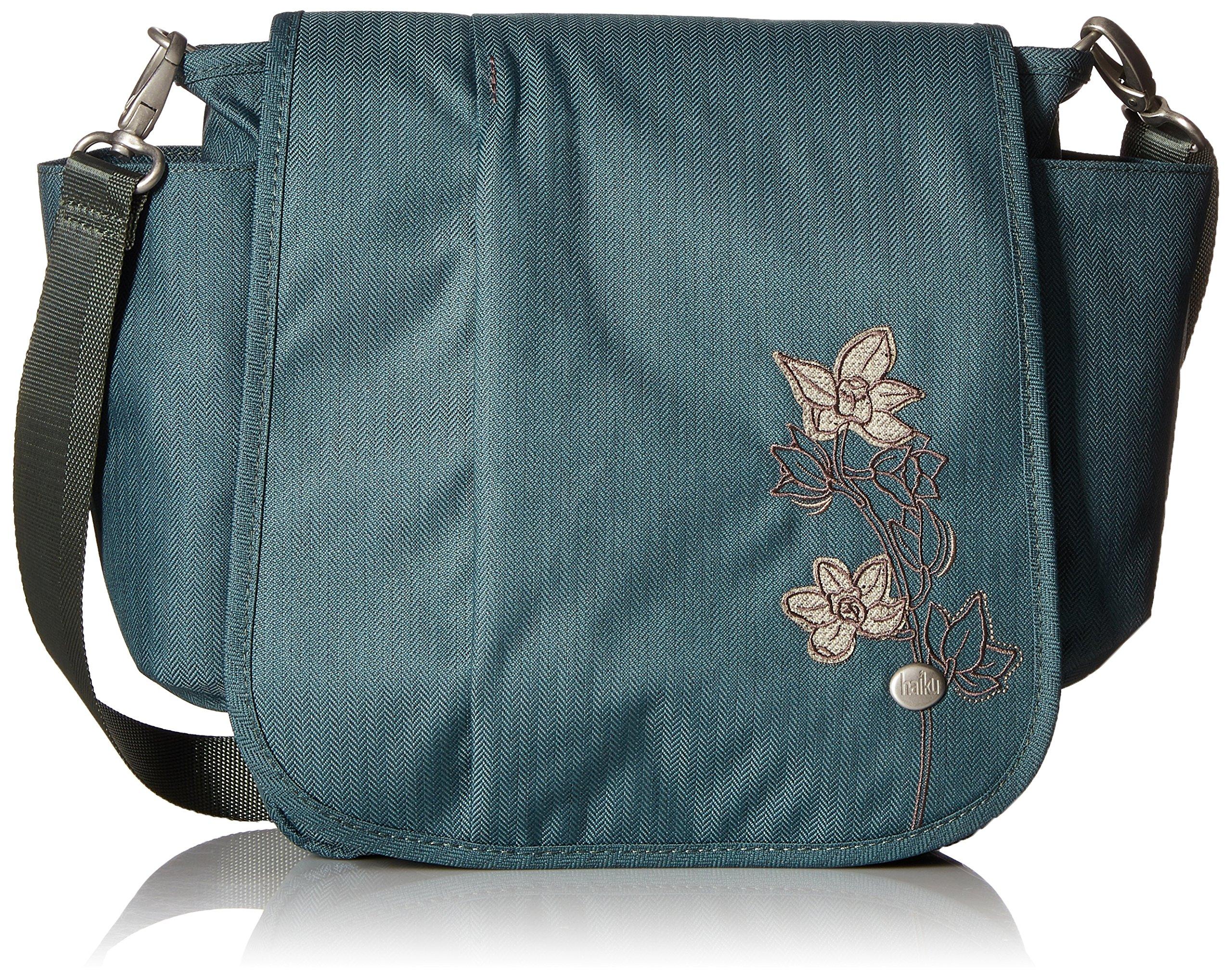 Haiku Women's To Go Convertible Messenger Crossbody Handbag, Balsam Green