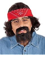 Forum Novelties Men's Chong Costume Kit with Bandana Wig and Beard