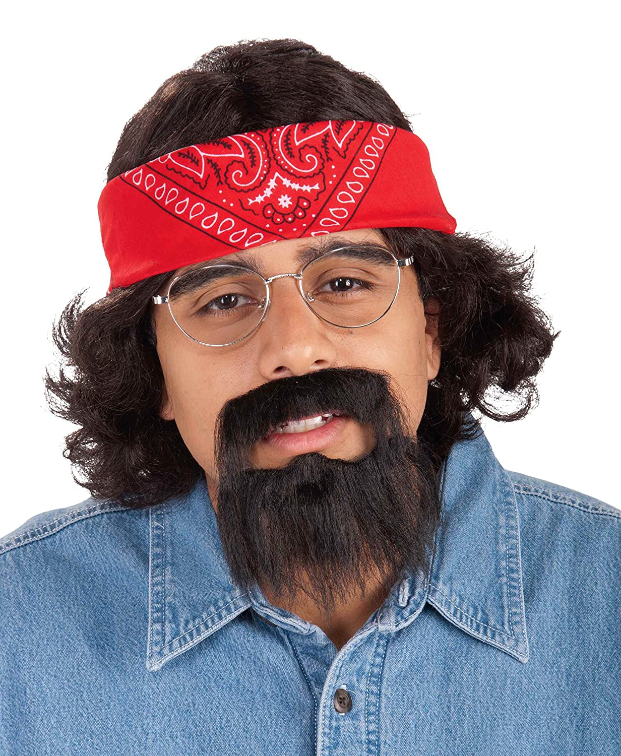 Forum Novelties Men's Cheech Kit with Cap Wig and Moustache Multi One Size Forum Novelties Costumes 66493