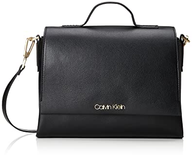 Calvin Klein Frame Top Handle Satchel, Cartables femme, (Black), 12x22x31 cm (B x H T)