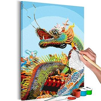 Murando Malen Nach Zahlen Drache Dragon 40x60cm Malset Diy Na 0474 Da