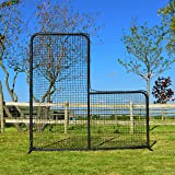 "FORTRESS 7' x 7' Pitcher L-screen Frame & #42 Heavy Duty Net with 42"" Drop [Net World Sports]"