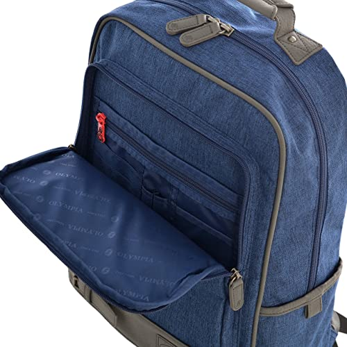 Olympia Apollo 18-Inch Backpack BU, Deep Blue, One Size