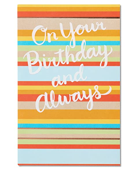 Amazon American Greetings Smile The Biggest Birthday Card With