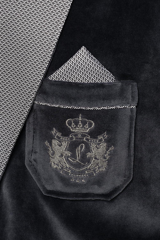 Velours Revise Elegante Corta Vestaglia per Gli Uomini RE-111
