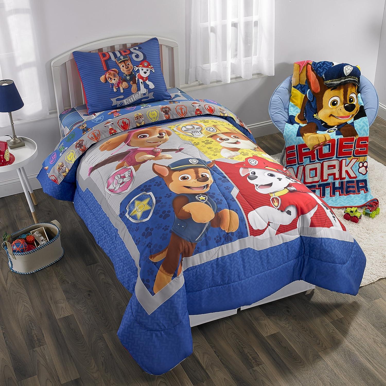 Paw Patrol Full Comforter, Sheet Set & Bonus Sham (6 Piece Bedding) + Homemade Wax Melts
