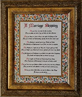 Amazon.com: Irish Wedding Blessing - Framed Inspirational Prayer ...