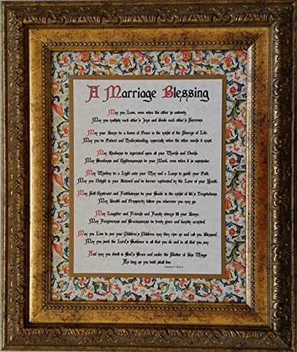 Amazon Com A Marriage Blessing Framed Inspirational Prayer For