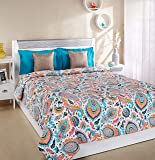 Amazon Brand - Solimo 100% Cotton Printed Comforter, Double (Paisley Preen, 200GSM)