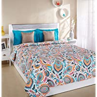 Amazon Brand - Solimo 100% Cotton Printed Comforter, Double