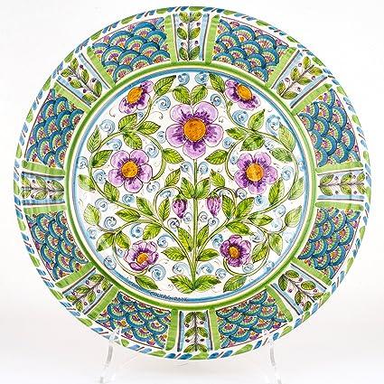 Piatto Decorativo in Ceramica di Caltagirone, fangotto Decorato a ...