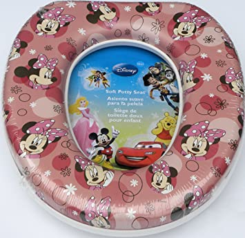 Amazon.com : Minnie Mouse Soft Potty Seat : Toilet Training Seat Covers : Baby