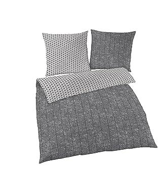 Bettwäsche 135x200 Baumwolle Wendebettwäsche Grau 2teilig Oeko Tex Standard Zertifiziert Kuschelige Bettwäsche Aus 100 Baumwolle