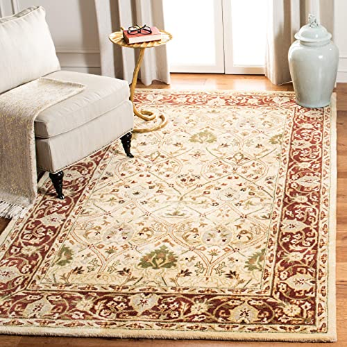 Safavieh Persian Legend Collection PL819D Handmade Traditional Ivory and Rust Wool Area Rug 5' x 8'