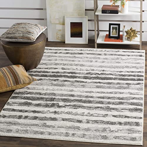 Safavieh Adirondack Collection ADR126N Ivory and Charcoal Modern Area Rug 8 x 10