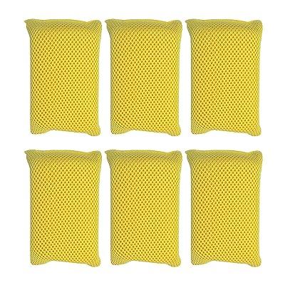 Iconikal Microfiber Bug Scrubber Sponge Pad, 6-Pack: Automotive