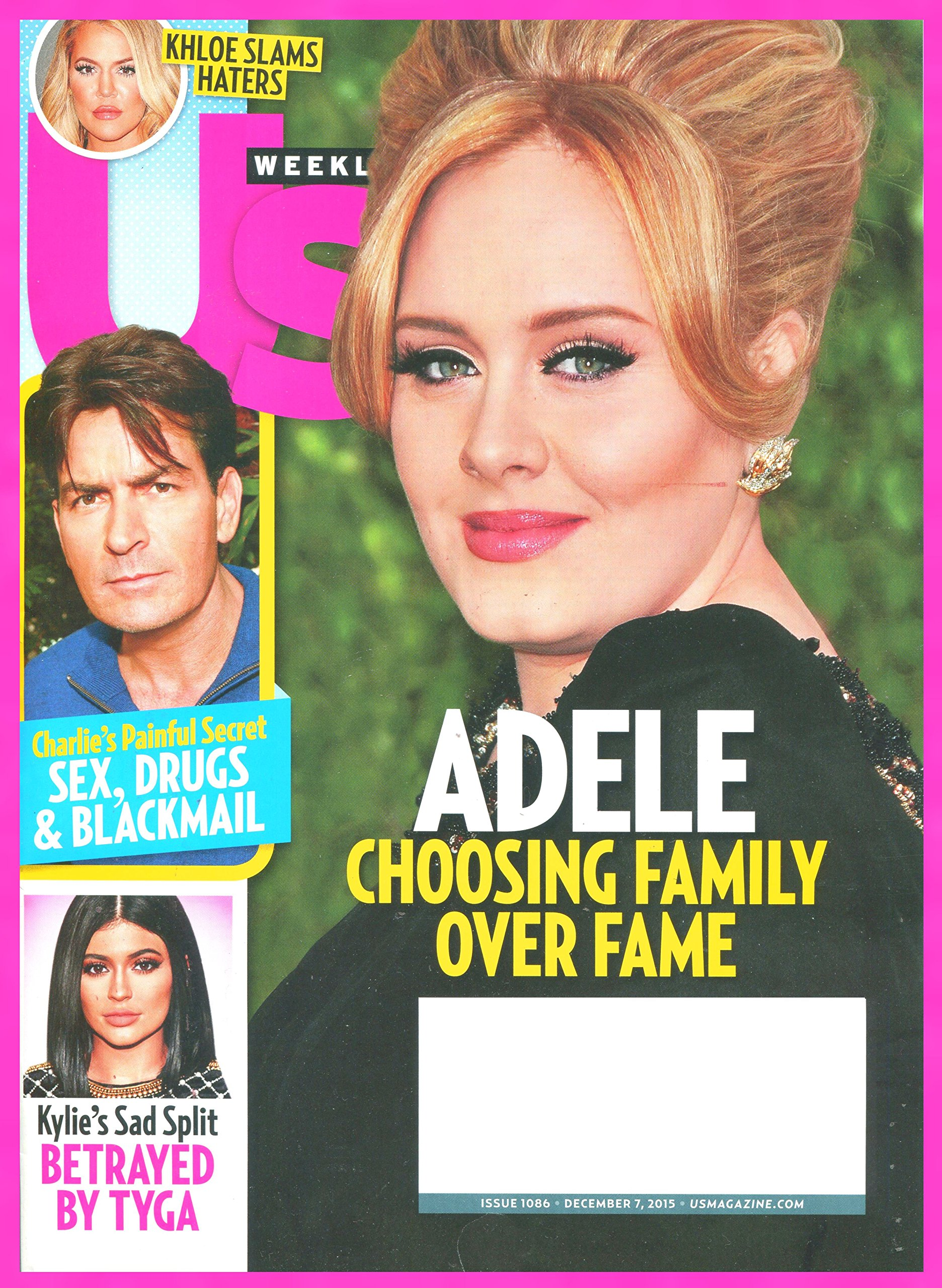 Us WEEKLY Magazine December 7, 2015 - ADELE Cover Charlie Sheen, Kloe, Kylie PDF