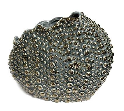 Amazon Sagebrook Home 11367 Ceramic Sea Urchin Vase Blue