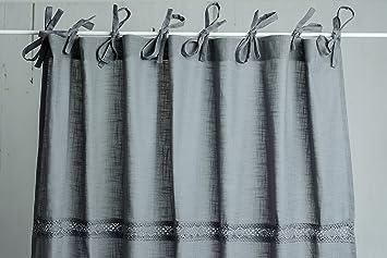 Amazon.de: Julia Frost Grau 2x (120x250cm) Vorhangset Vorhänge ...