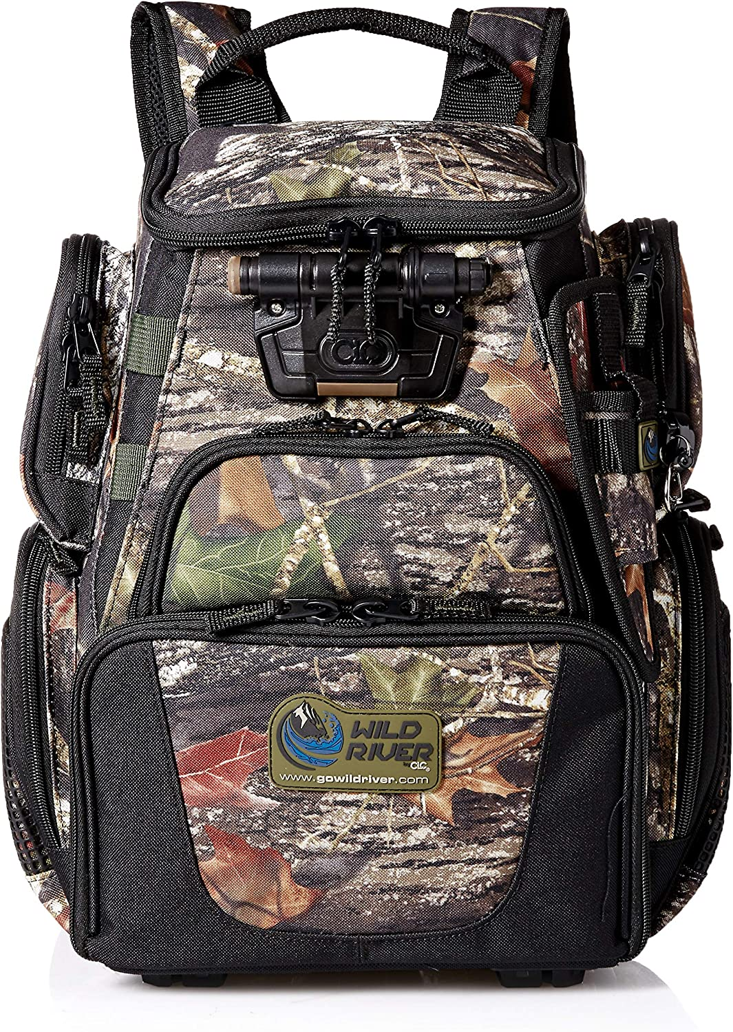 Wild River by CLC 503 Tackle Tek Recon LED Lighted Camo Compact Backpack, Mossy Oak