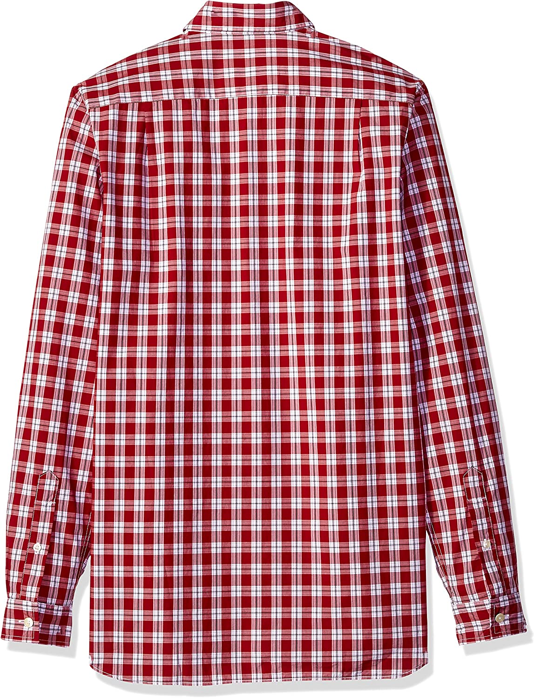CH5804 Lacoste Mens Long Sleeve Poplin Button Down Collar Reg Fit Woven Shirt