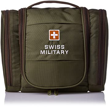 ca93ef08fb47 Swiss Military Green Toiletry Bag (TB-2)  Amazon.in  Bags