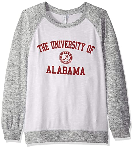 chicka-d NCAA Officially Licensed University of Alabama Ladies Cozy Crewneck  Lightweight Sweatshirt Sweater 18c06077b1