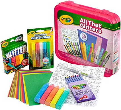 bf600004c Amazon.com: Crayola All That Glitters, Art Set, Over 50 Pieces, Gift ...