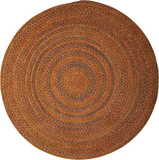 product image for Colonial Mills Rustica Round Braided Rug, 4-Feet, Audubon Russet
