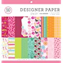 "Colorbok Designer Paper Pad 12"" x 12"" Girly Girl"