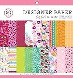 "ColorBok 67704C Designer Paper Pad Girly Girl, 12"" x 12"""
