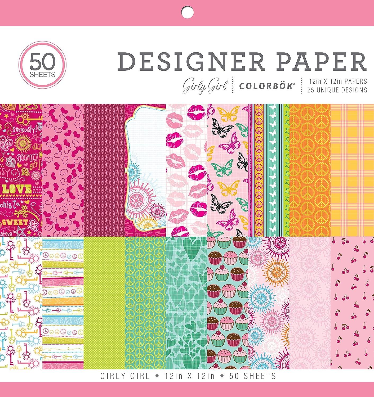 ColorBok 67704C Designer Paper Pad Girly Girl, 12 x 12 12 x 12
