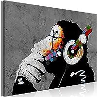 murando Cuadro en Lienzo DJ Mono 90x60 cm 1 Parte Impresión en Material Tejido no Tejido Impresión Artística Imagen…