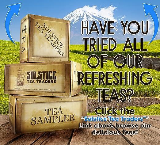Loose Leaf Breakfast Tea Sampler, 6 Pack Tea Assortment of Black Teas, English Breakfast, Irish, Scottish, Indian, Oriental, Solstice Tea - Makes 90+ Cups